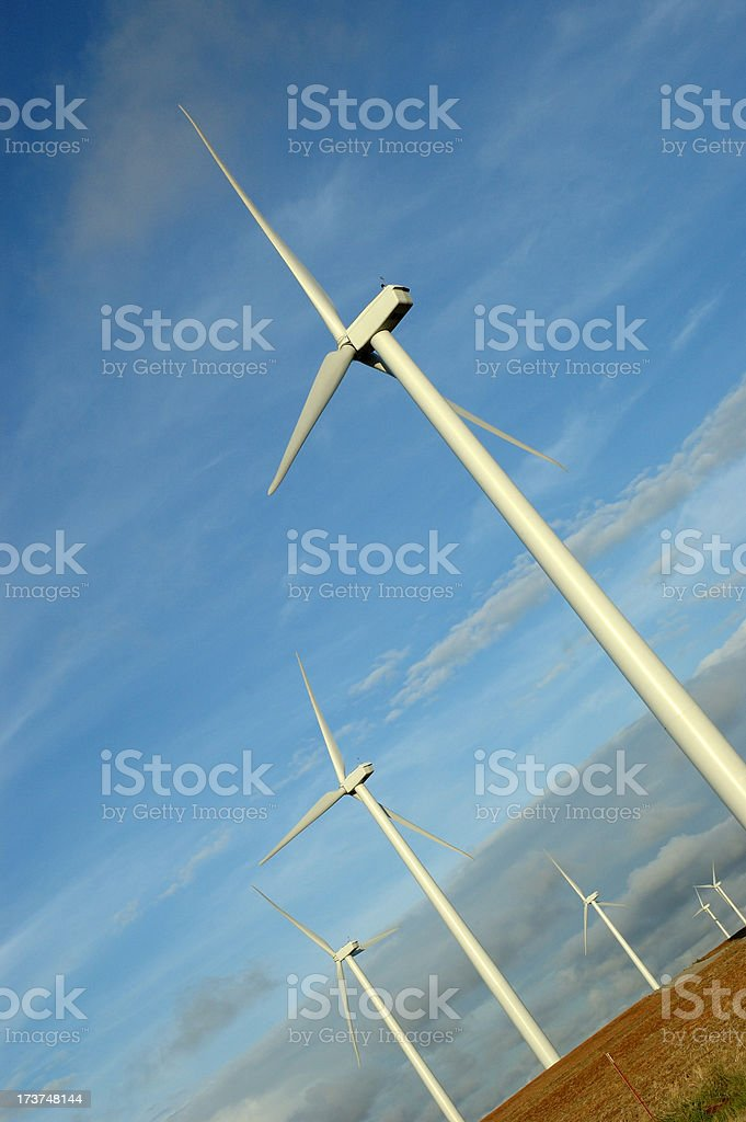Tilted Turbines royalty-free stock photo