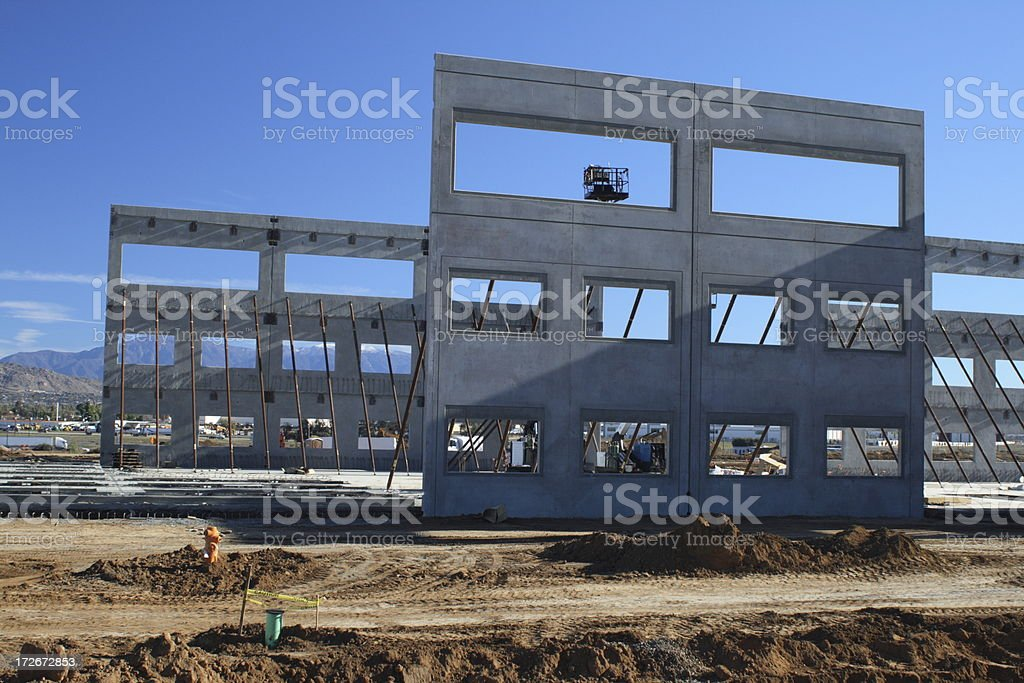 Tilt-Up Building 2361 stock photo