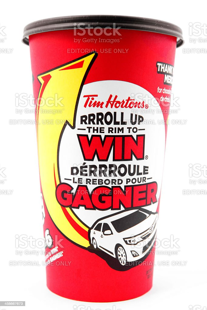 Tim Hortons Coffee Cup royalty-free stock photo