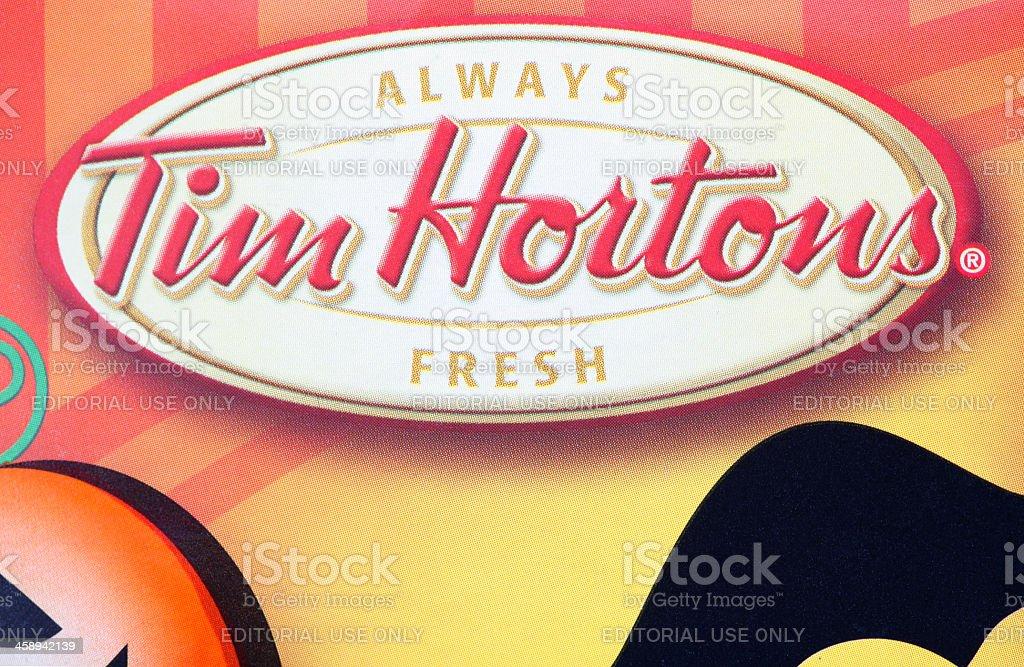 Tim Hortons Logo stock photo
