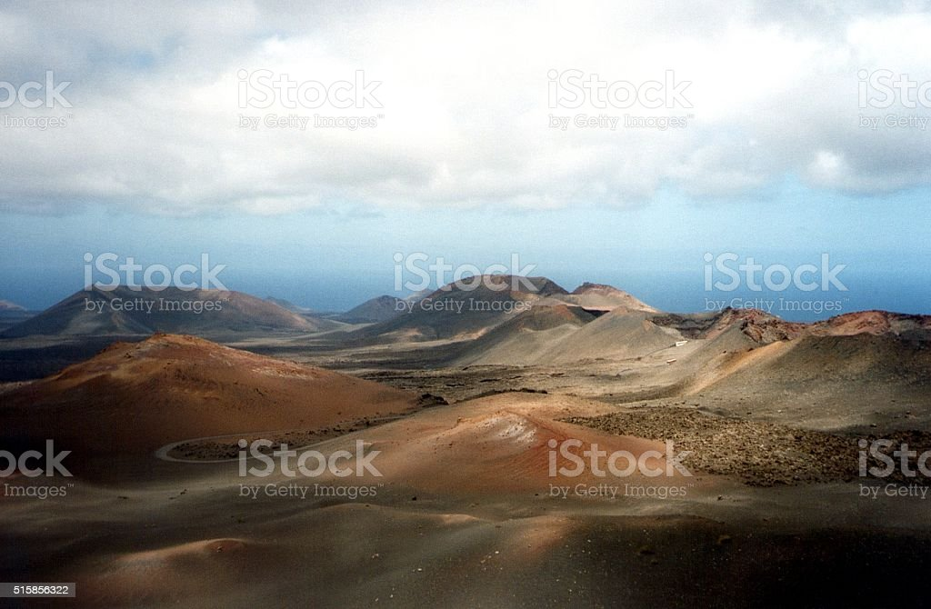 Timanfaya National Park landscape, Lanzarote island stock photo