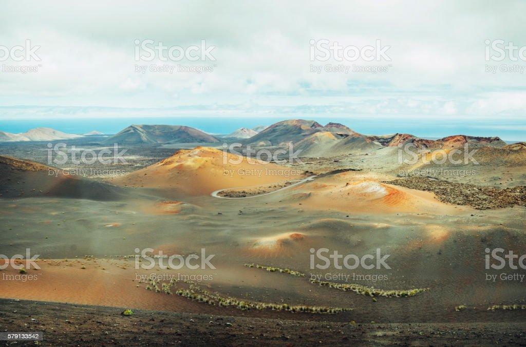 Timanfaya National Park stock photo