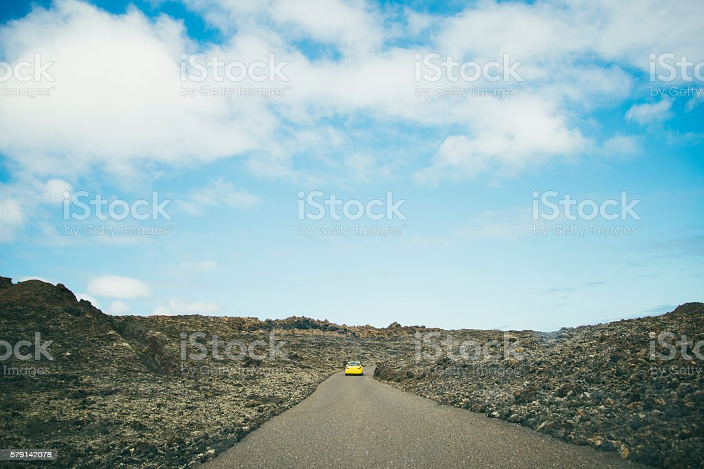Timanfaya Road stock photo