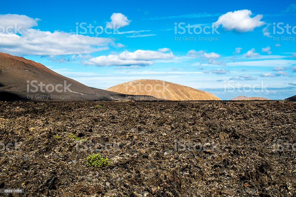Timanfaya volcanic area in Lanzarote, stock photo