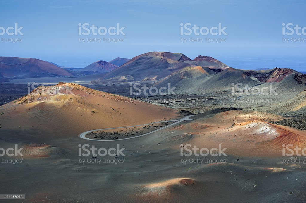 Timanfaya volcanic parc stock photo