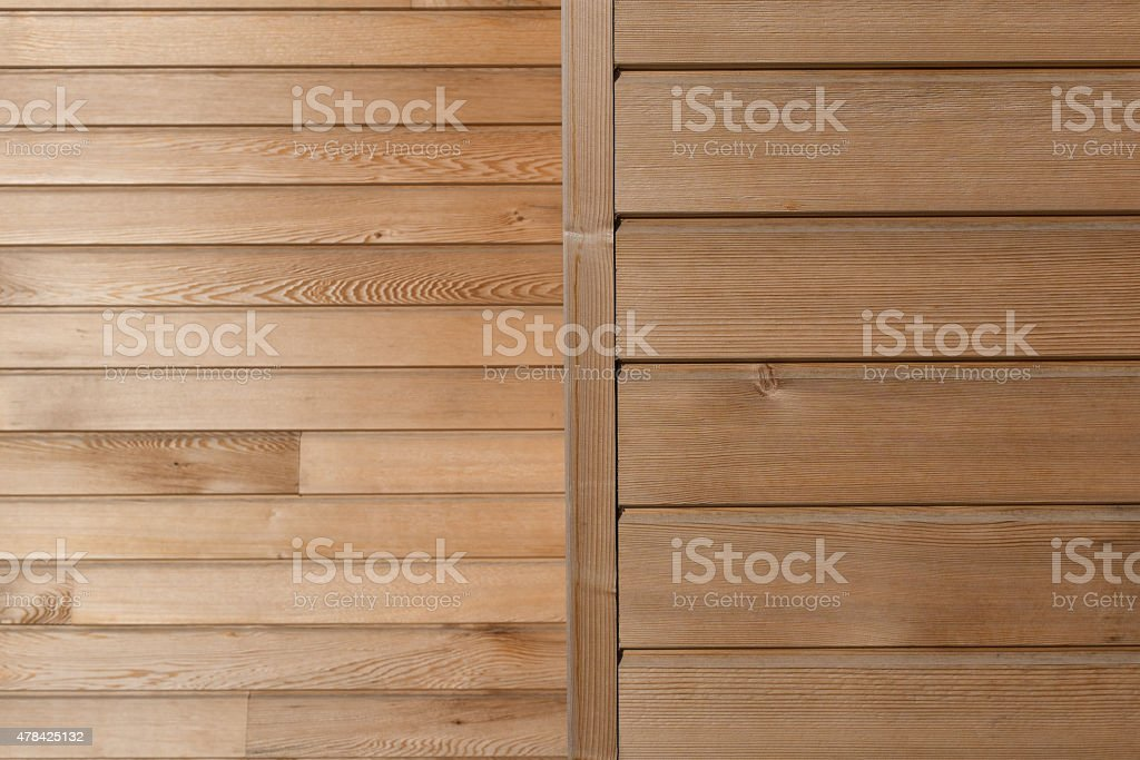 Timber board background cladding stock photo