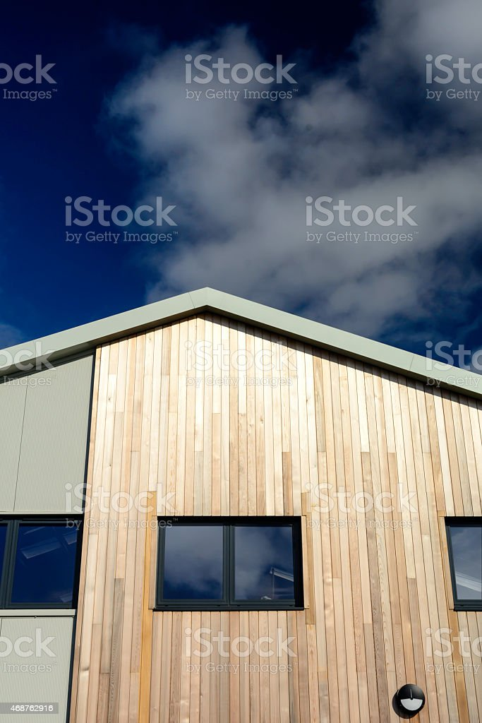 Timber Cladding Detail stock photo