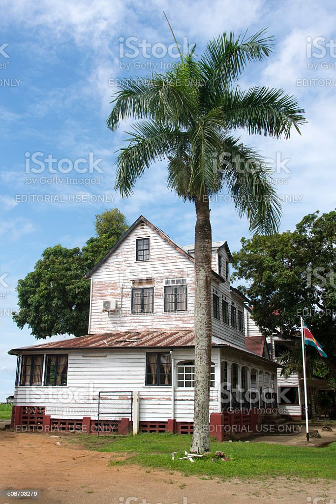 Timber colonial architecture stock photo