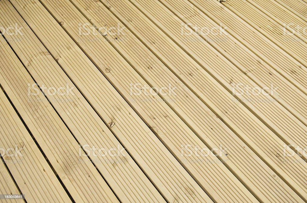 Timber decking royalty-free stock photo
