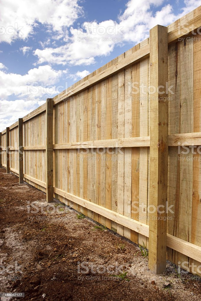 Timber Fence stock photo