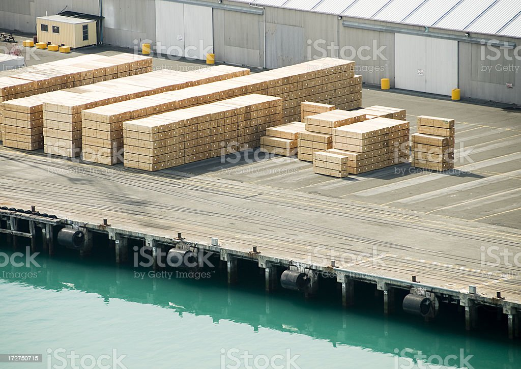 Timber for Export royalty-free stock photo