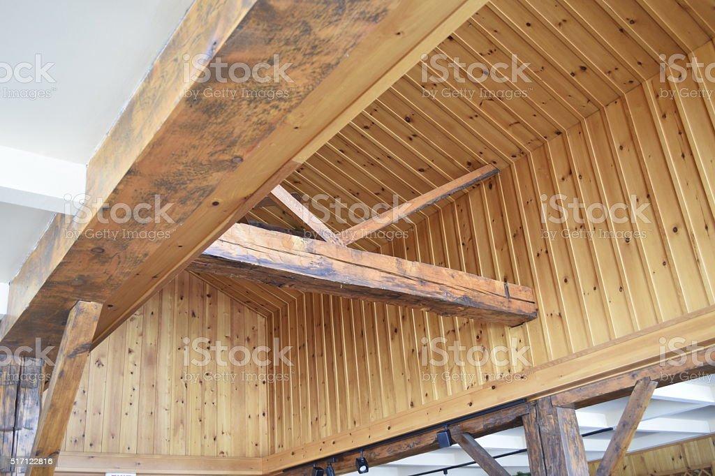 Timber frame stock photo