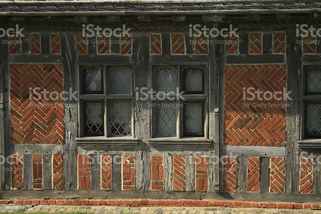 Timber framed building stock photo