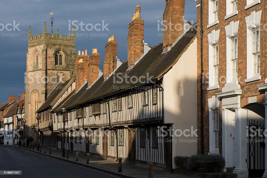Timber Framed Buildings in Old Stratford upon Avon stock photo