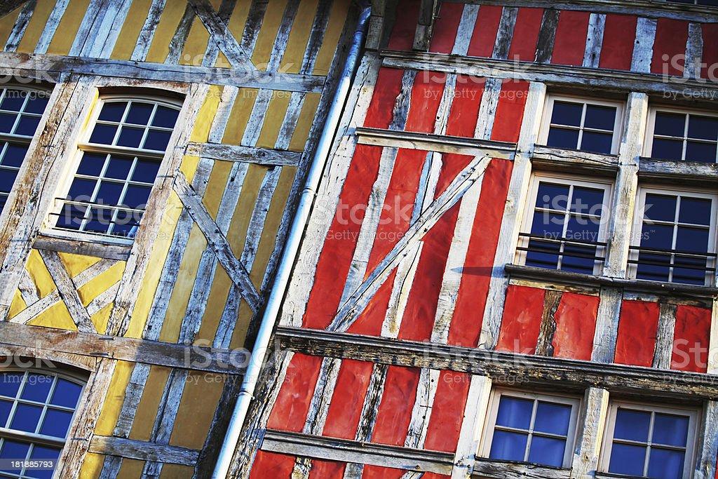 Timber Framed Houses stock photo
