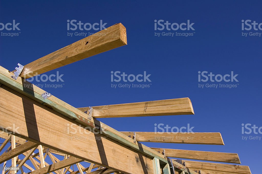 Timber House Frame royalty-free stock photo