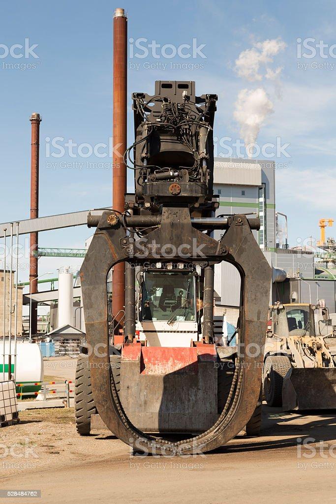 Timber lifter stock photo