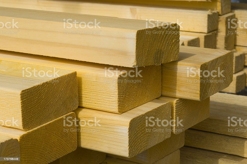 Timber on construction site royalty-free stock photo