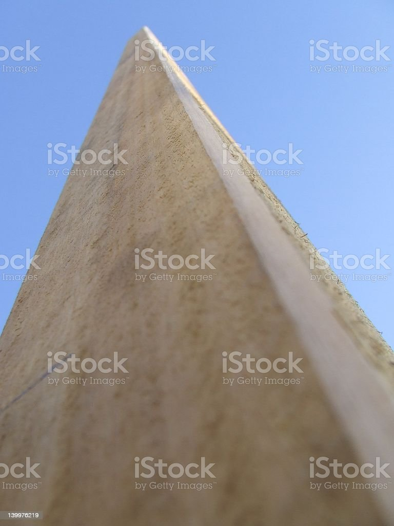 timber post rising into the blue sky 2 royalty-free stock photo