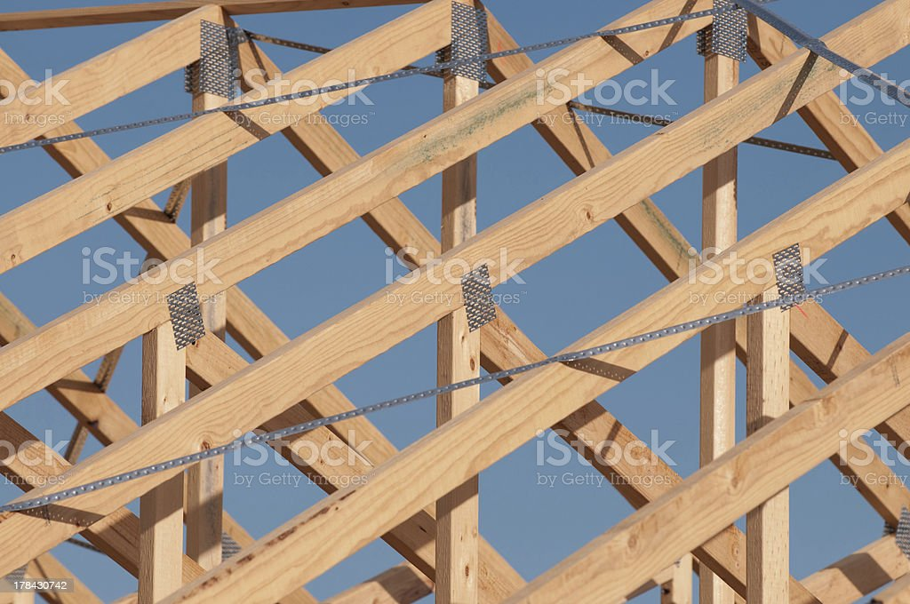 Timber Roof Frame stock photo