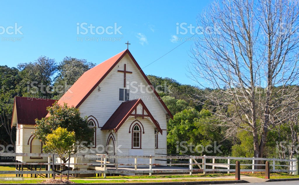 Timber rural church royalty-free stock photo