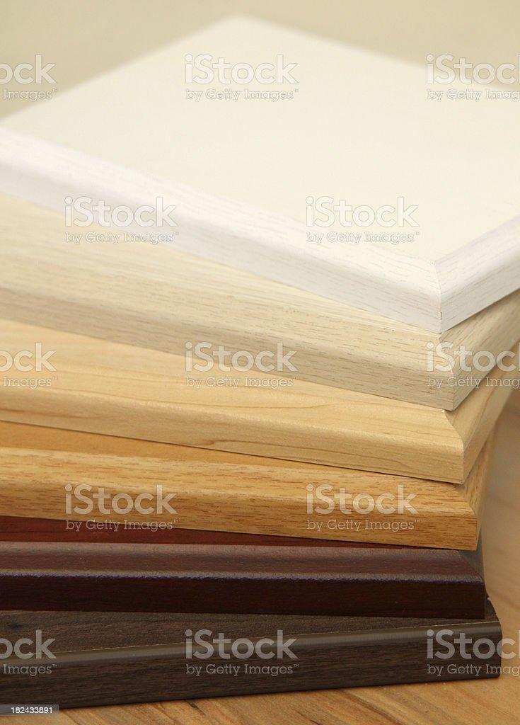 Timber samples stock photo