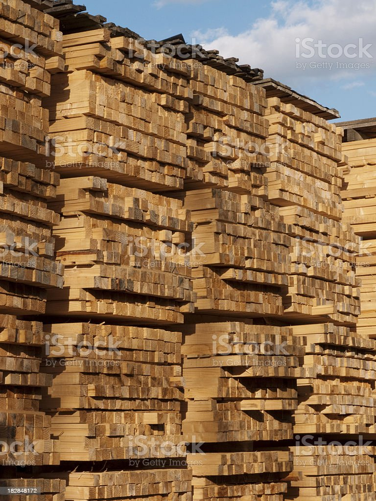 Timber stack royalty-free stock photo