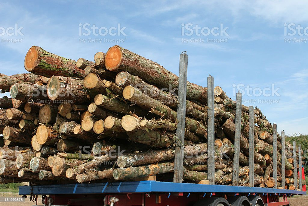 Timber Trailer stock photo