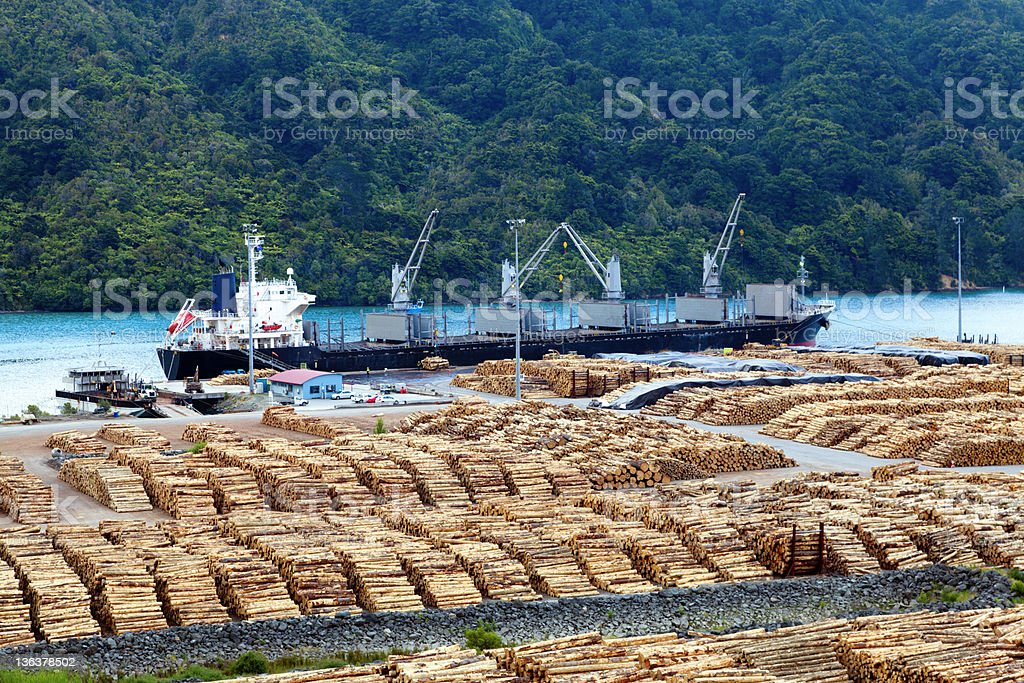 Timber yard royalty-free stock photo