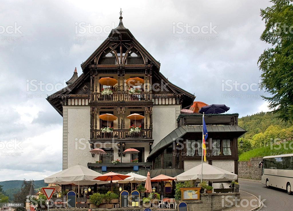 timbered Black Forest House Facade stock photo