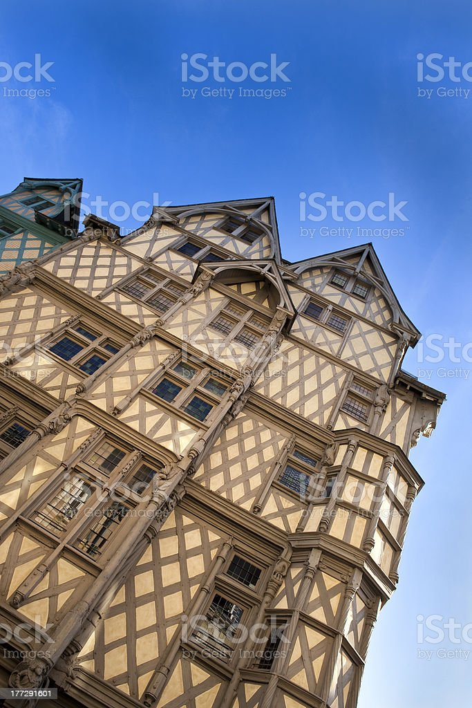 Timbered house 'Maison d'Adam' royalty-free stock photo