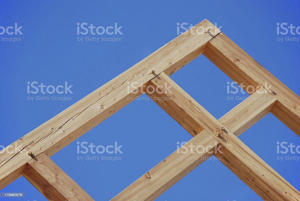 Timber-frame construction stock photo