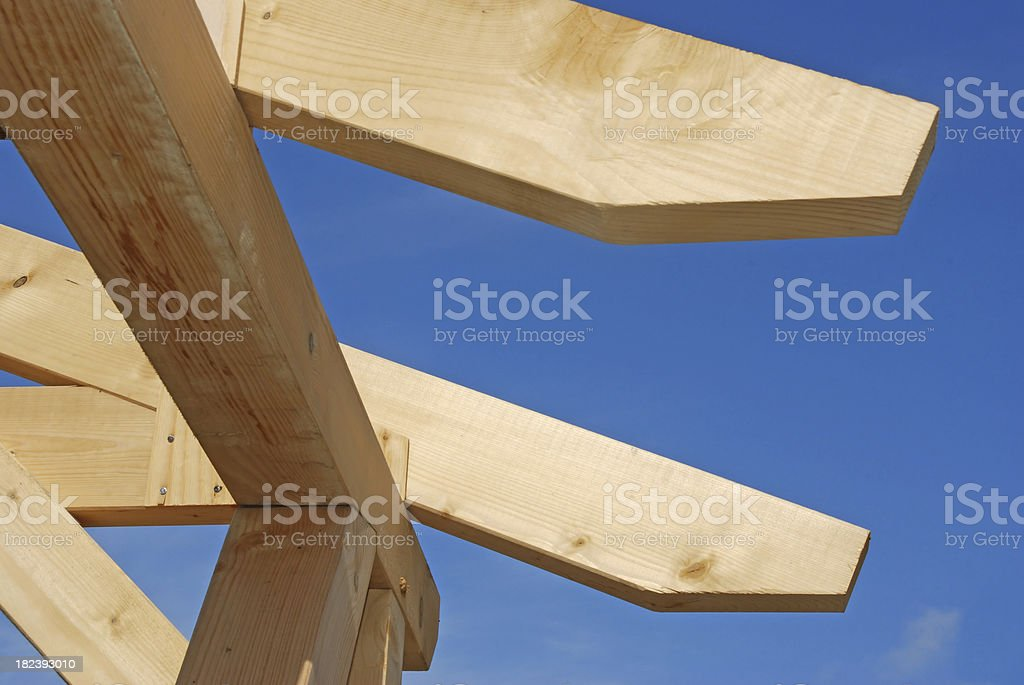 Timber-frame construction stock photo
