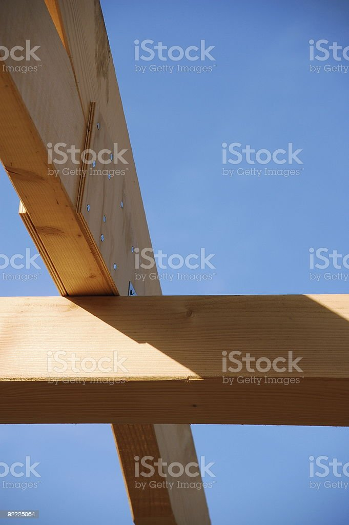 Timber-frame construction royalty-free stock photo