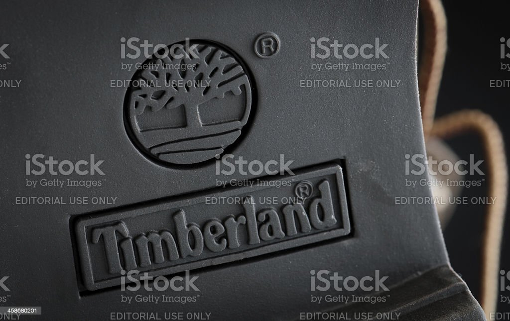 Timberland boots sole detail stock photo