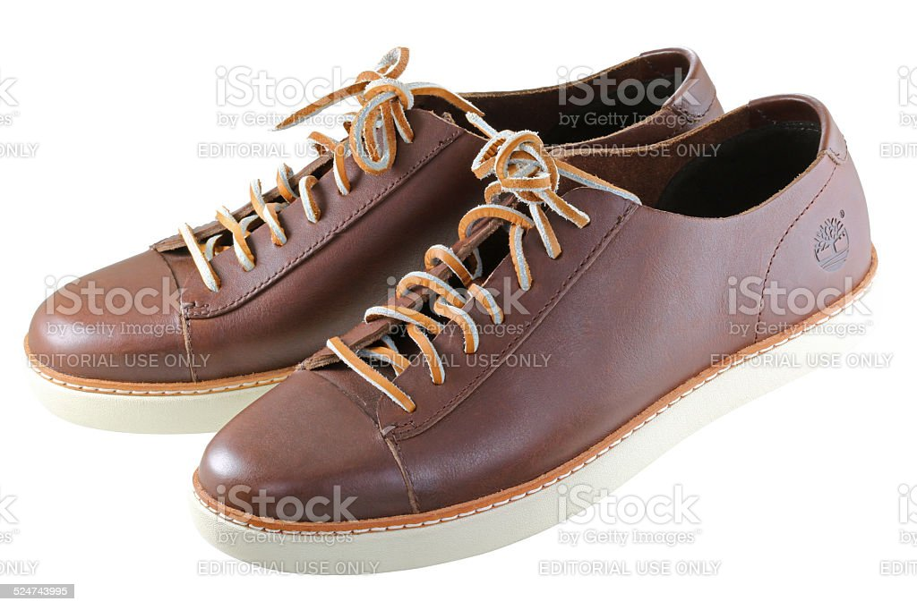 Timberland Leather shoes stock photo