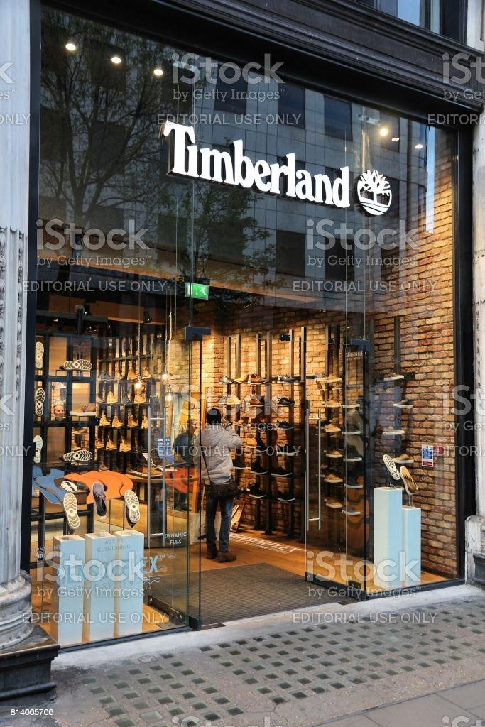 Timberland, London stock photo