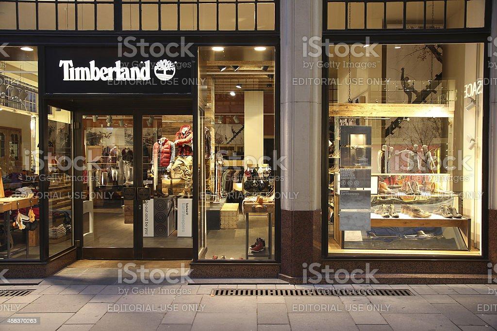 Timberland - outdoor fashion stock photo