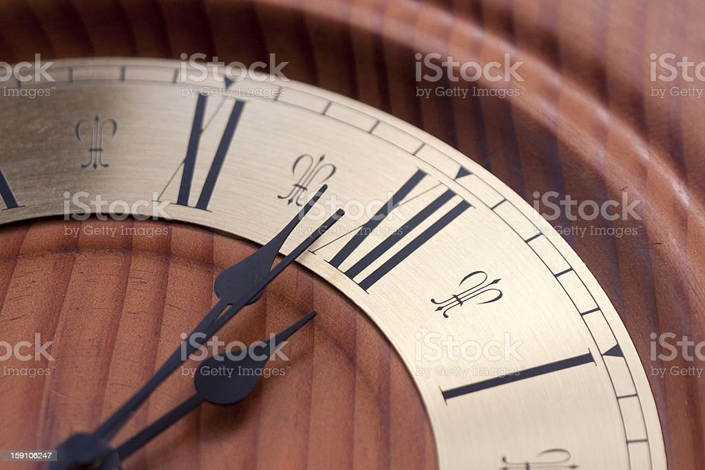 Time almost up stock photo