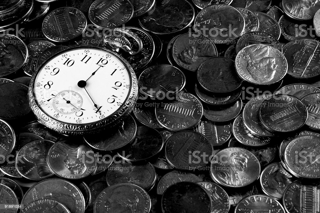 Time And Money Concept royalty-free stock photo
