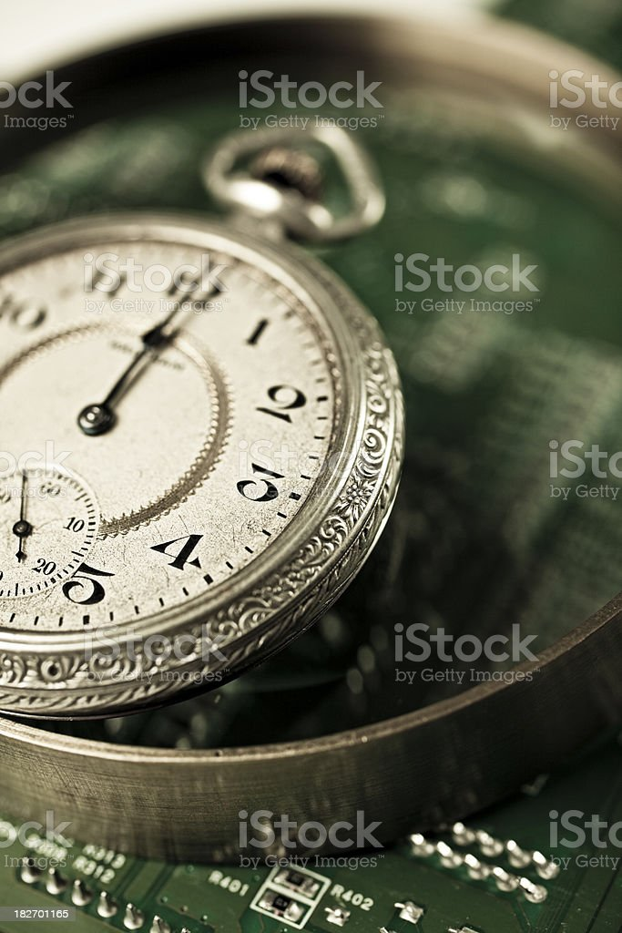 time and technology royalty-free stock photo