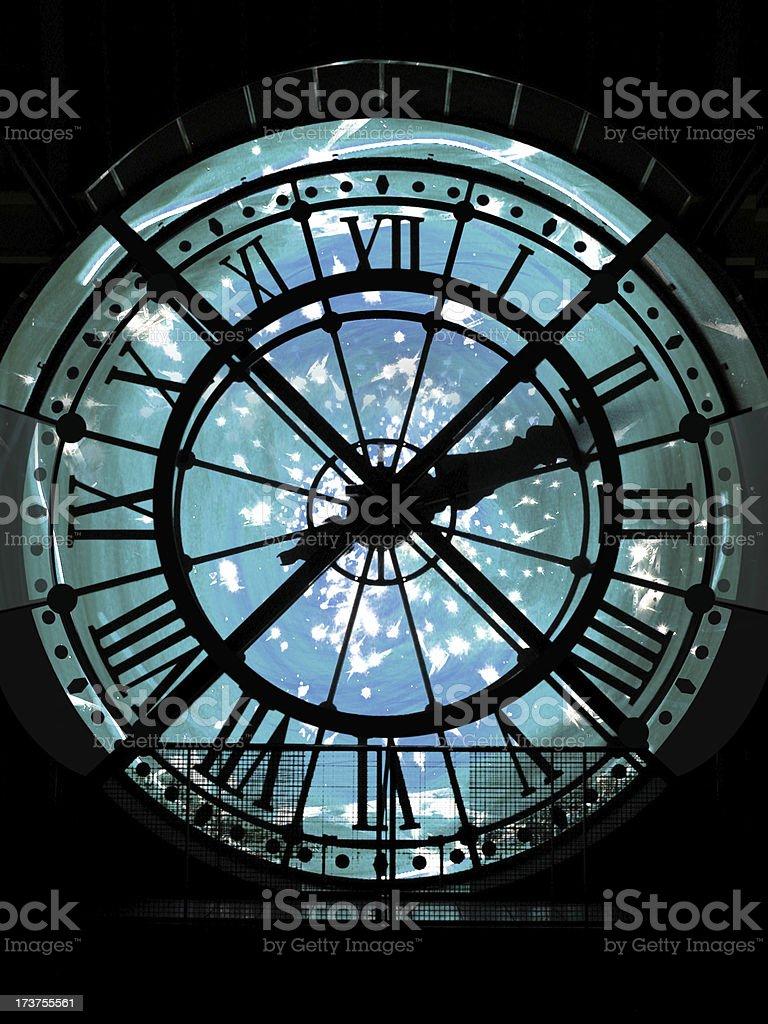 Time Aqua royalty-free stock photo