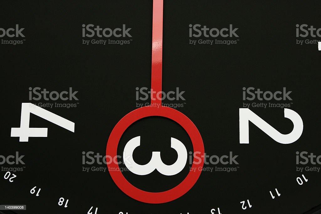 Time at  3 o'clock royalty-free stock photo