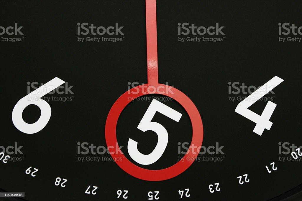 Time at  5 o'clock royalty-free stock photo