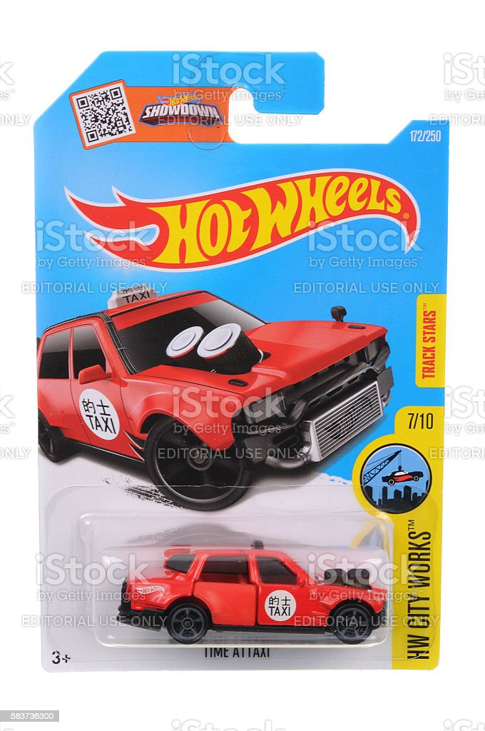 Time Attaxi Hot Wheels Diecast Toy Vehicle stock photo