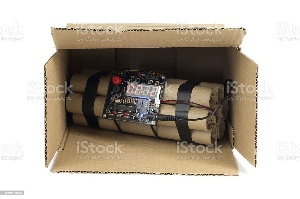 Time Bomb in Box royalty-free stock photo