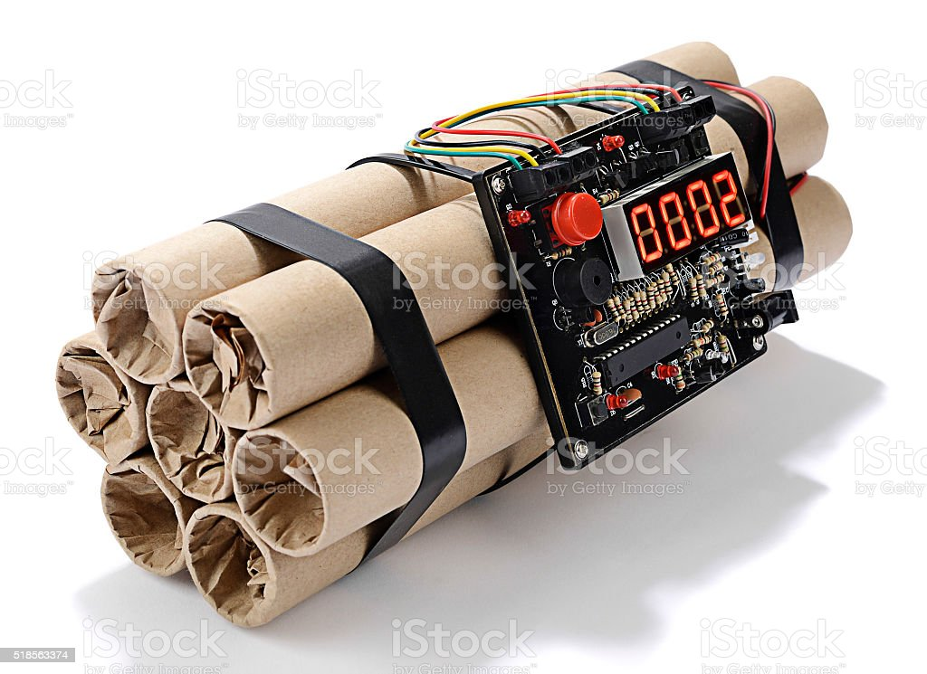 Time Bomb Isolated stock photo