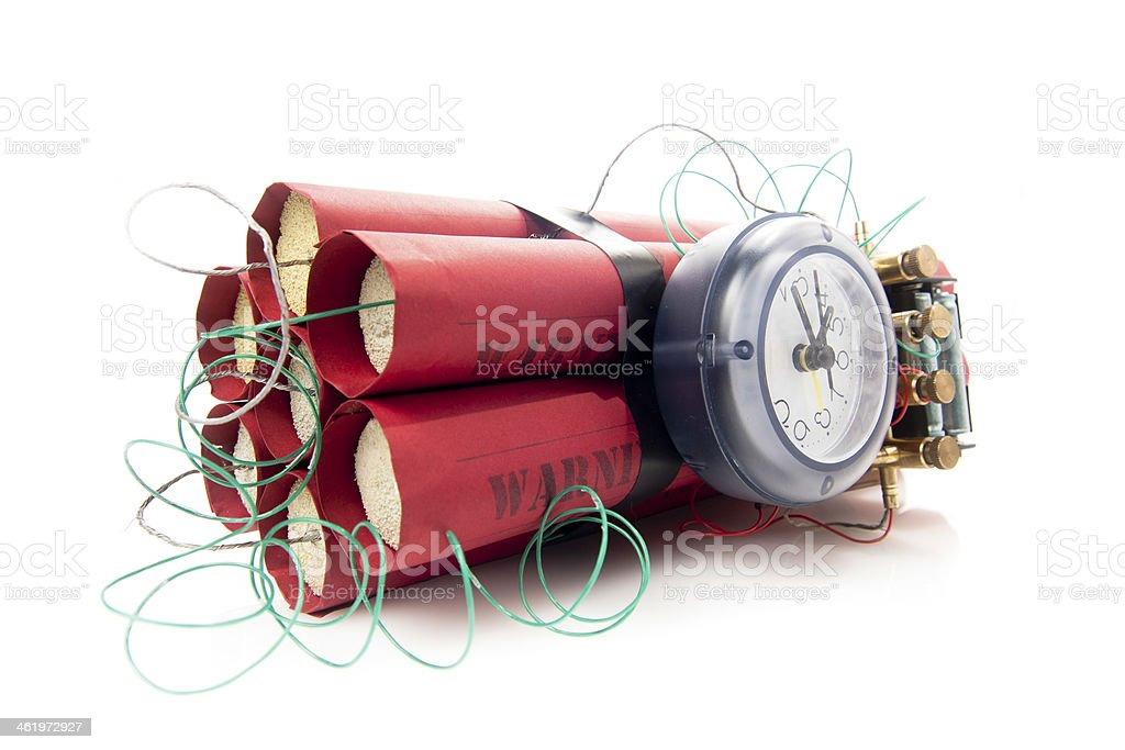 time bomb on a white background royalty-free stock photo