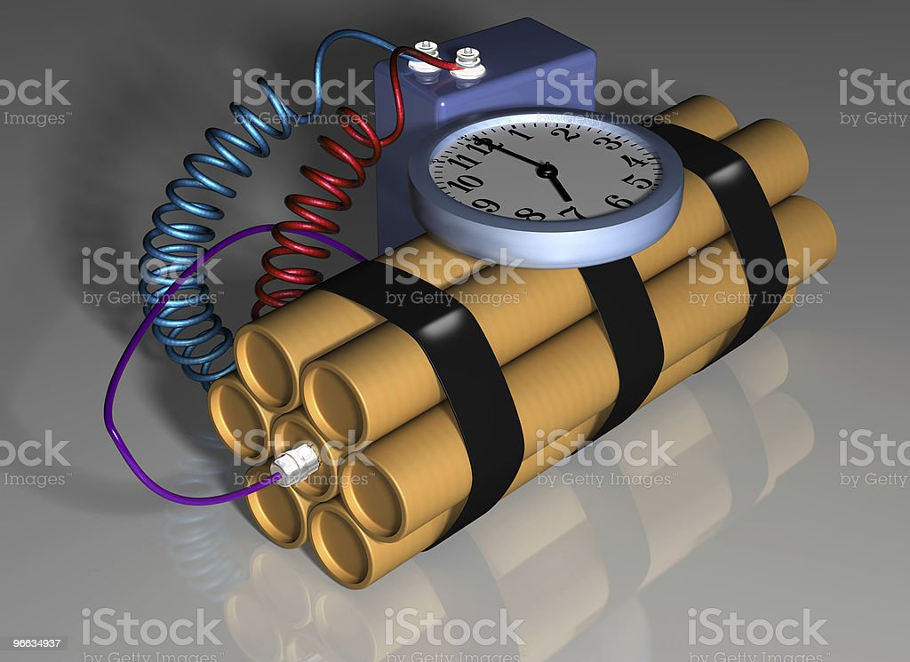Time bomb primed for action royalty-free stock photo