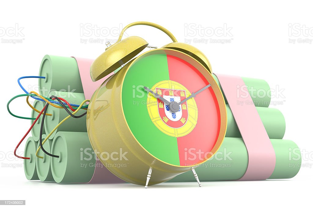 Time Bomb with Portuguese Flag royalty-free stock photo